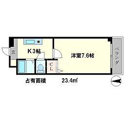 ヴェール一乗寺[2階]の間取り