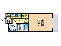 エステートモア大濠5[4階]の間取り