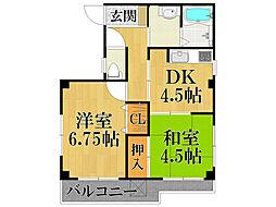 栗原マンション[1階]の間取り