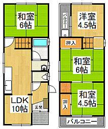 泉北高速鉄道 深井駅 徒歩28分の賃貸一戸建て 1階4LDKの間取り