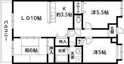 カルム長堀[6階]の間取り