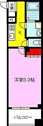 JPレジデンス京橋EAST 2階1Kの間取り