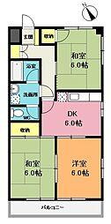 前島マンション[3階]の間取り