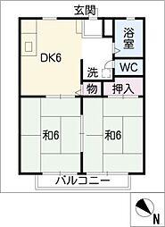 岡戸 アーバンハイツ[1階]の間取り