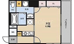 大阪府大阪市北区堂島2丁目の賃貸マンションの間取り
