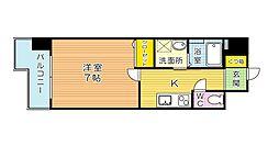 福岡県北九州市小倉北区片野3丁目の賃貸マンションの間取り