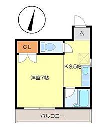 広島県呉市本通5丁目の賃貸マンションの間取り