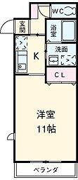 愛知県安城市緑町1丁目の賃貸マンションの間取り