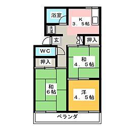 井田ハイツ[1階]の間取り
