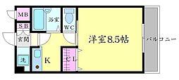 コートクレセント[2階]の間取り