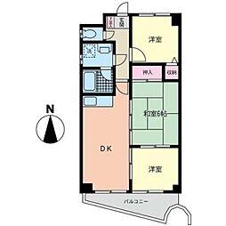 ヒルスミキいずみ中央[4階]の間取り