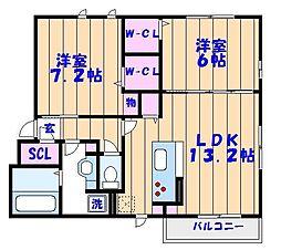 千葉県市川市湊新田2丁目の賃貸アパートの間取り