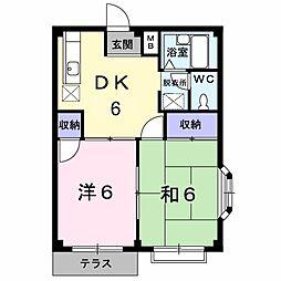エルディム藤ニュータウン1[1階]の間取り