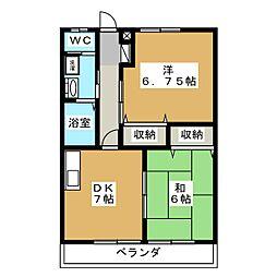 サンピュアLaurier[3階]の間取り