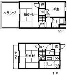 [テラスハウス] 東京都世田谷区羽根木2丁目 の賃貸【/】の間取り