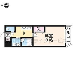 A-mon太秦天神川[4階]の間取り