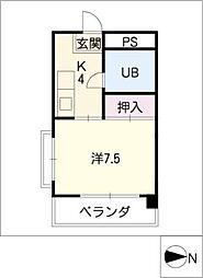 安田コーポ[2階]の間取り