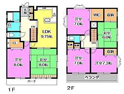 [一戸建] 東京都清瀬市中清戸3丁目 の賃貸【/】の間取り