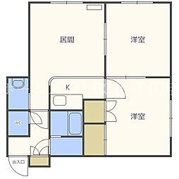エビスハウス41[2階]の間取り