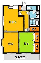 Kレジデンス1[2階]の間取り
