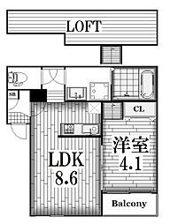 アークラヴィータ[1階]の間取り