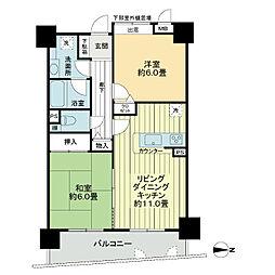 ハイホーム小平[5階]の間取り