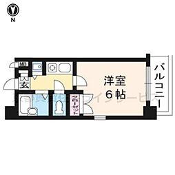 リーガル京都五条烏丸[8階]の間取り