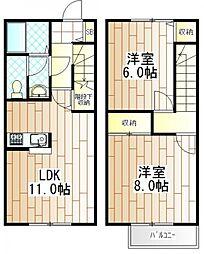[テラスハウス] 東京都町田市西成瀬1丁目 の賃貸【東京都 / 町田市】の間取り