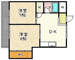 カトウ第一ビル[3階]の間取り
