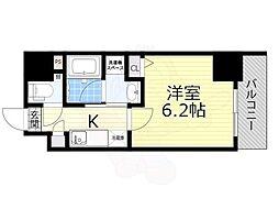 名古屋市営東山線 新栄町駅 徒歩9分の賃貸マンション 4階1Kの間取り