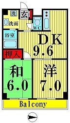 プロフィットリンク竹ノ塚[305号室]の間取り