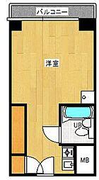 パピリオーテ西横浜[3階]の間取り