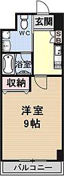 R-2コート(アールツーコート)[302号室号室]の間取り