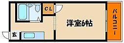 シャンポール藤井[1階]の間取り