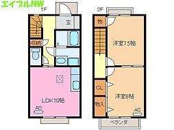 [テラスハウス] 三重県松阪市内五曲町 の賃貸【三重県 / 松阪市】の間取り