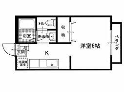 紀州屋第2マンション[1階]の間取り