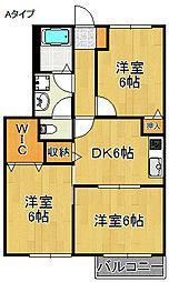 ファミール・カシロウA棟[1階]の間取り