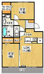 ラ・メール[1階]の間取り