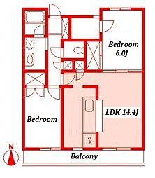 ラヴィル横浜[1階]の間取り