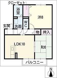 エクセル兵庫A棟[2階]の間取り