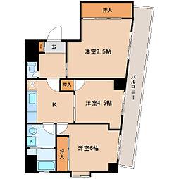 宮城野桜ハイツ[3階]の間取り