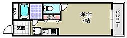 プレシャスコート岸和田[403号室]の間取り