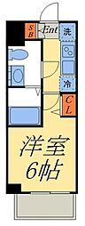 GENOVIA 京成立石 skygarden 5階1Kの間取り