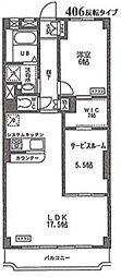 戸田グリーンマンション[406号室]の間取り