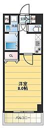 ロータリーマンション長田東[802号室号室]の間取り