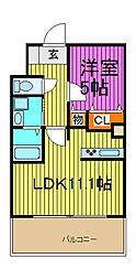 ベル・メゾン[5階]の間取り