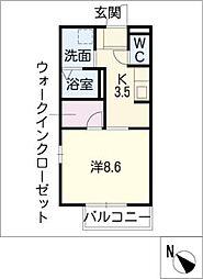 タウンコート松阪[2階]の間取り