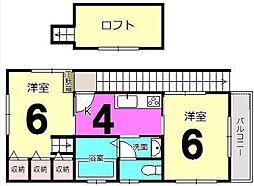 ビラージュNK2[2階]の間取り