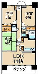 ランフォルセ寝屋川ウイングタワー弐番館[8階]の間取り