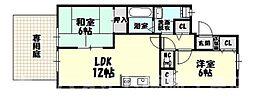 [タウンハウス] 福岡県糟屋郡志免町南里7丁目 の賃貸【/】の間取り